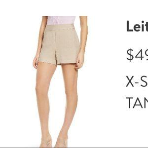 Leith high waist fabric shorts